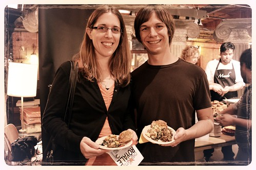 WBEZ High Fidelity Members Kristin and Andy Fitz at Munch restaurant station, Chef Battle Royale 2012 | by Louisa Chu