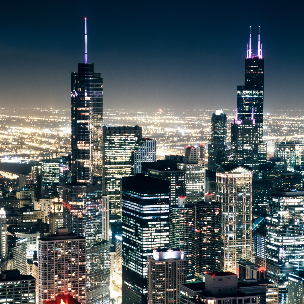 Zeiss Vr One >> The Windy City | Night view of downtown Chicago as seen from… | Flickr