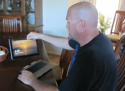 David Buchholz with Detachable Ultrabook Convertible | by IntelFreePress