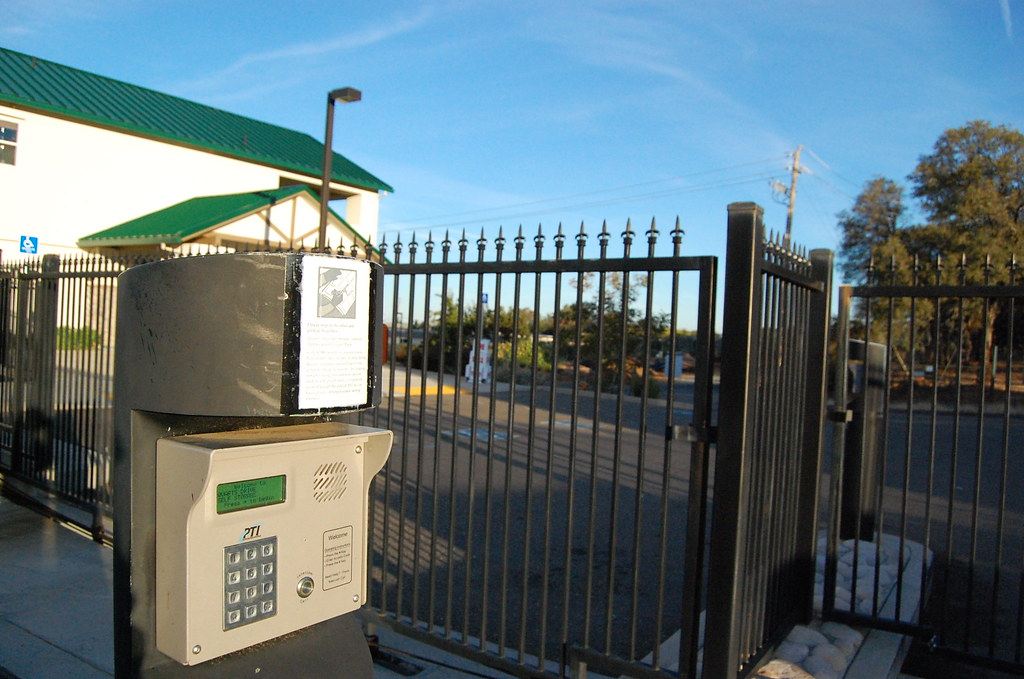 Secure fencing with keypad access gates quartz drive