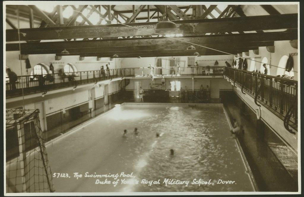 postcard  the swimming pool  duke of york u0026 39 s royal military