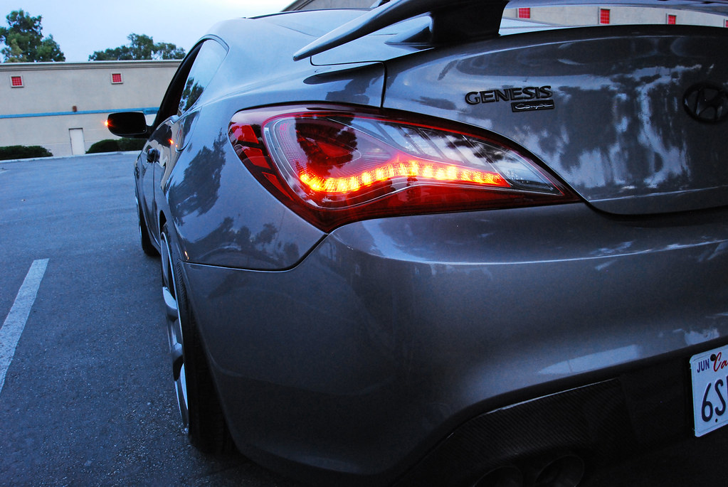 smoked chrome 2013 genesis coupe tail lights with sequential signals flickr. Black Bedroom Furniture Sets. Home Design Ideas