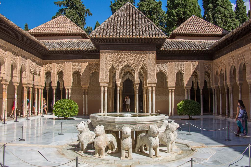 Patio de los leones la alhambra f128377 patio de los - Patios de granada ...