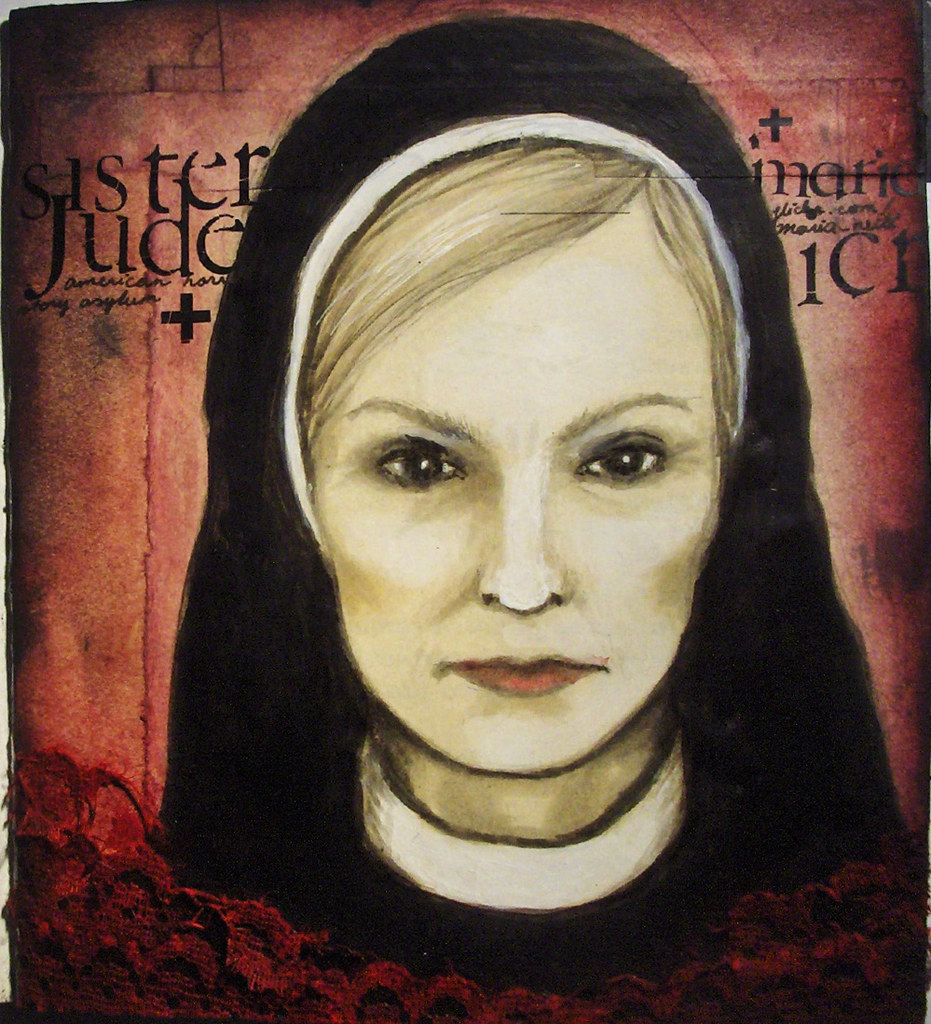 sister jude for a fan art deco from american horror