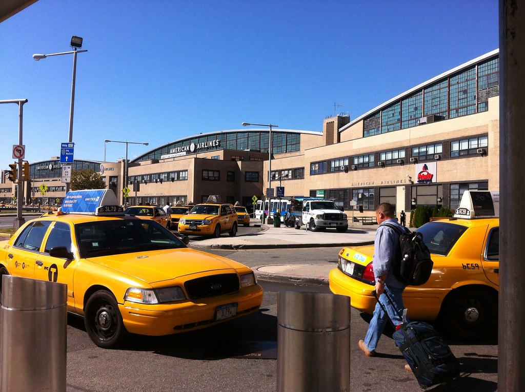 new york taxi stand at laguardia airport photo i096 by gra
