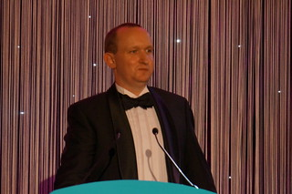 Darren Jamieson presents the first award | by Engage Web