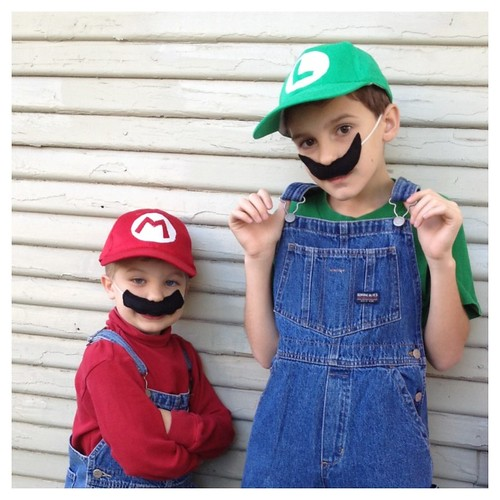 DIY Mario and Luigi Costumes | by Maker Mama