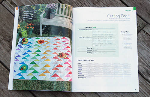 Cutting Edge Quilt Pattern in Modern Quilts Unlimited - Premier Issue, Fall 2012 | by Fresh Lemons : Faith