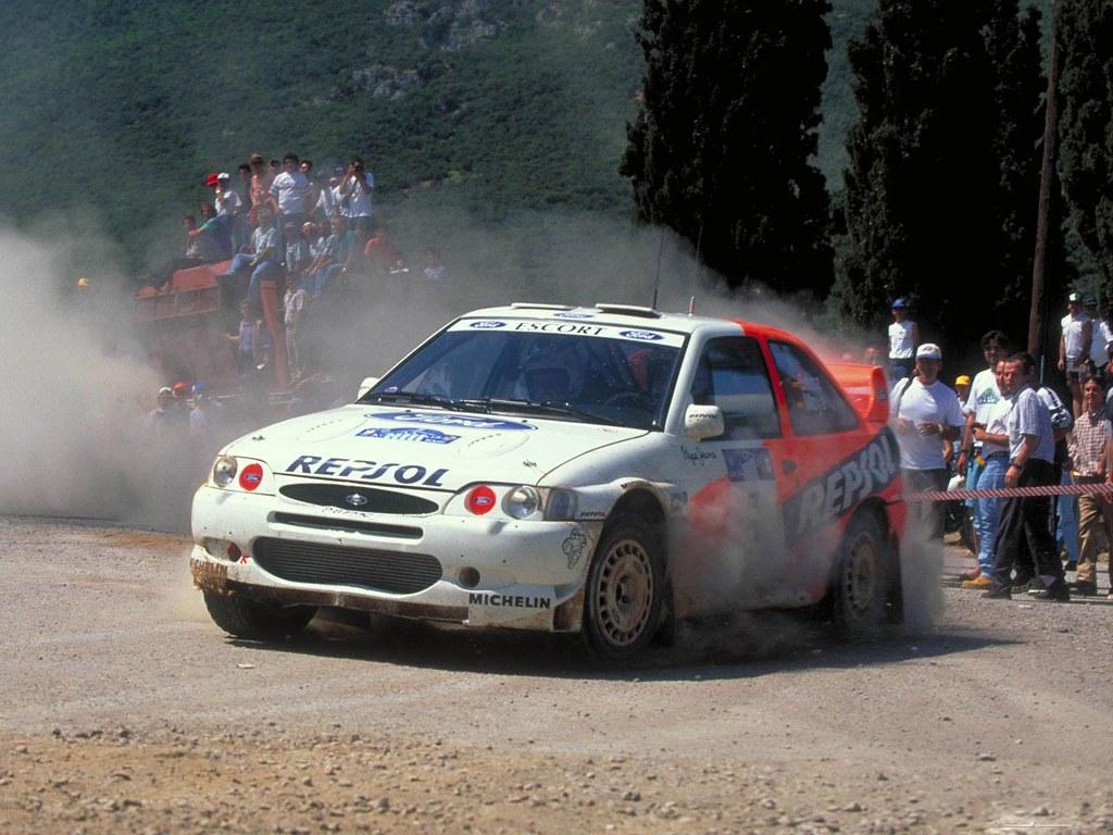 Ford Escort Wrc Of Carlos Sainz At 1997 Rally Acropolis