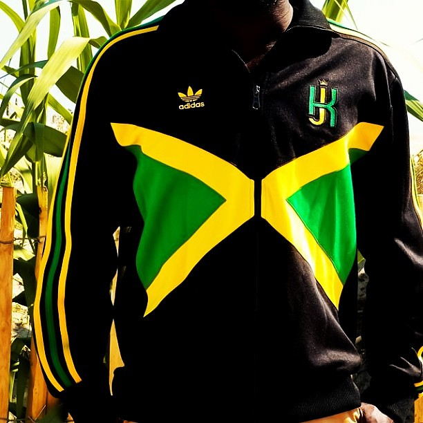 the awesome adidas originals kingston jamaica track top by