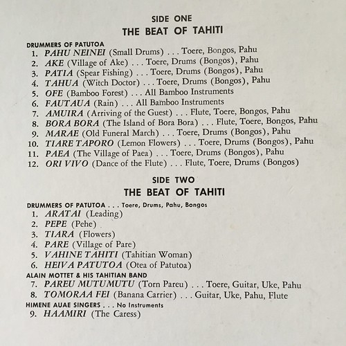 Song list of beat of Tahiti
