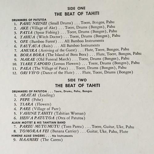 Song list of beat of Tahiti