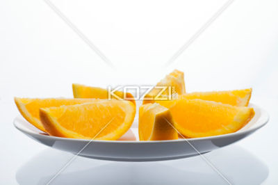 orange slices on plate | by mikefood8877