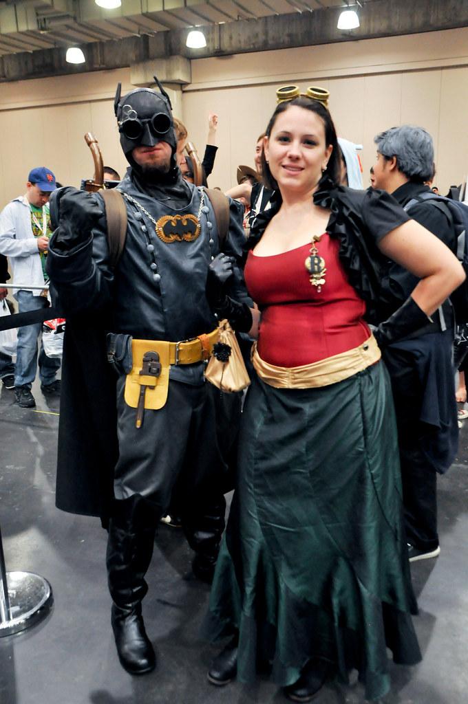 Steampunk Batman And Robin New York Comic Con 2012 For