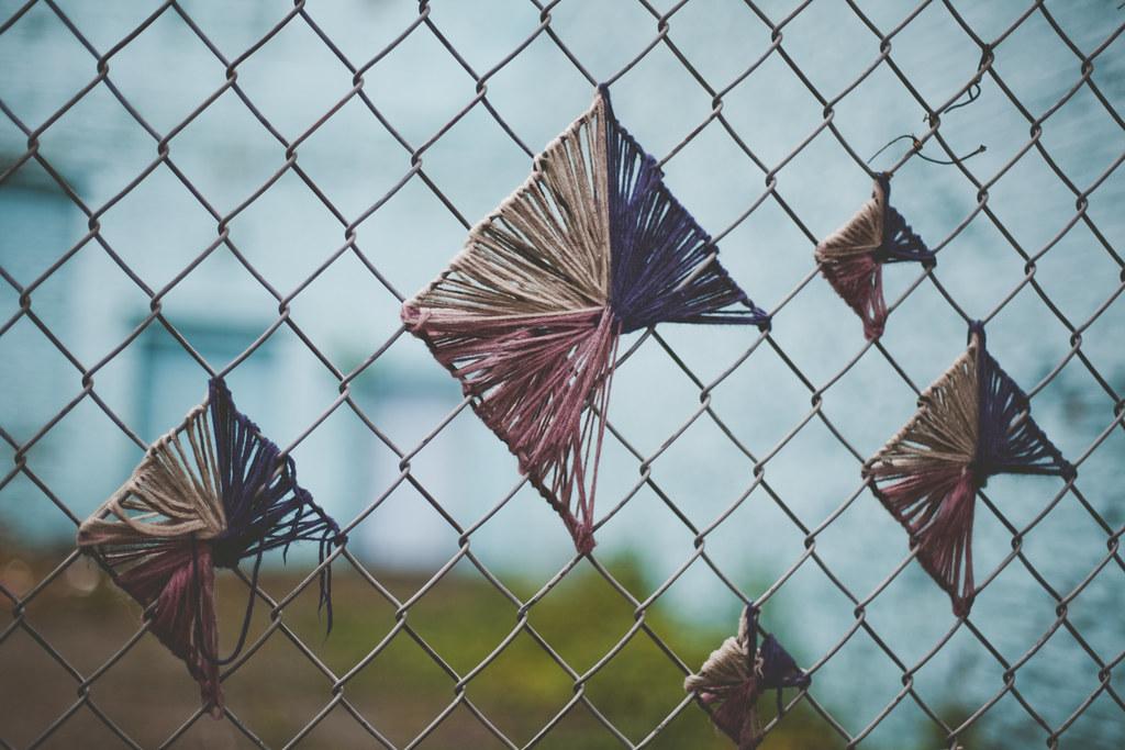 Chain link fence art vivienne mcmaster flickr