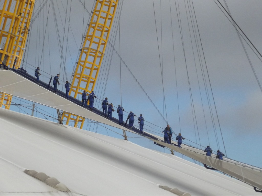 O2 Arena Former Millennium Dome People Walking Up The