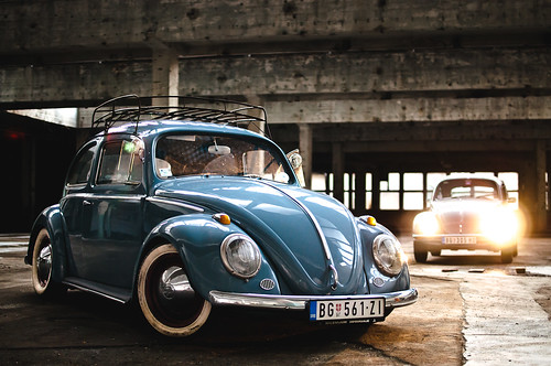 vw beetle vw beetle from 1958 dropped as much as it can be flickr. Black Bedroom Furniture Sets. Home Design Ideas