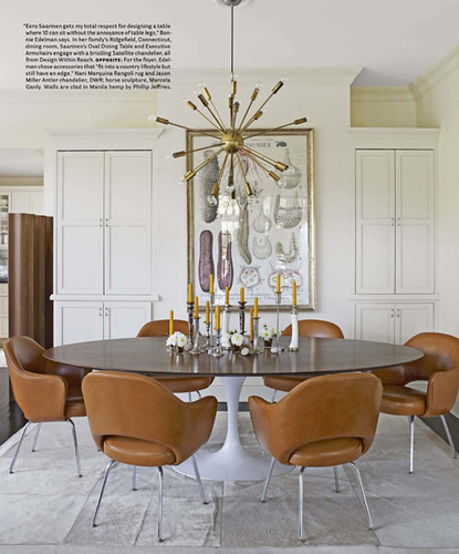 Sputnik dining room saarinen table house beautiful bonnie