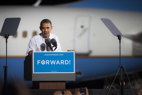 Obama on Cleveland Tarmac- OH-11 | by Brett Marty