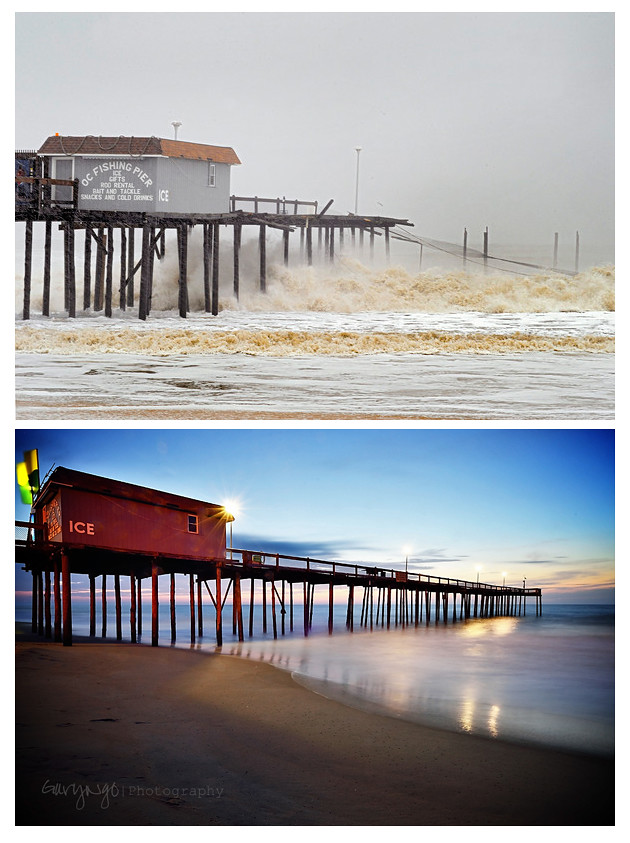 Ocean city fishing pier after hurricane sandy roar through for Ocean city md fishing pier