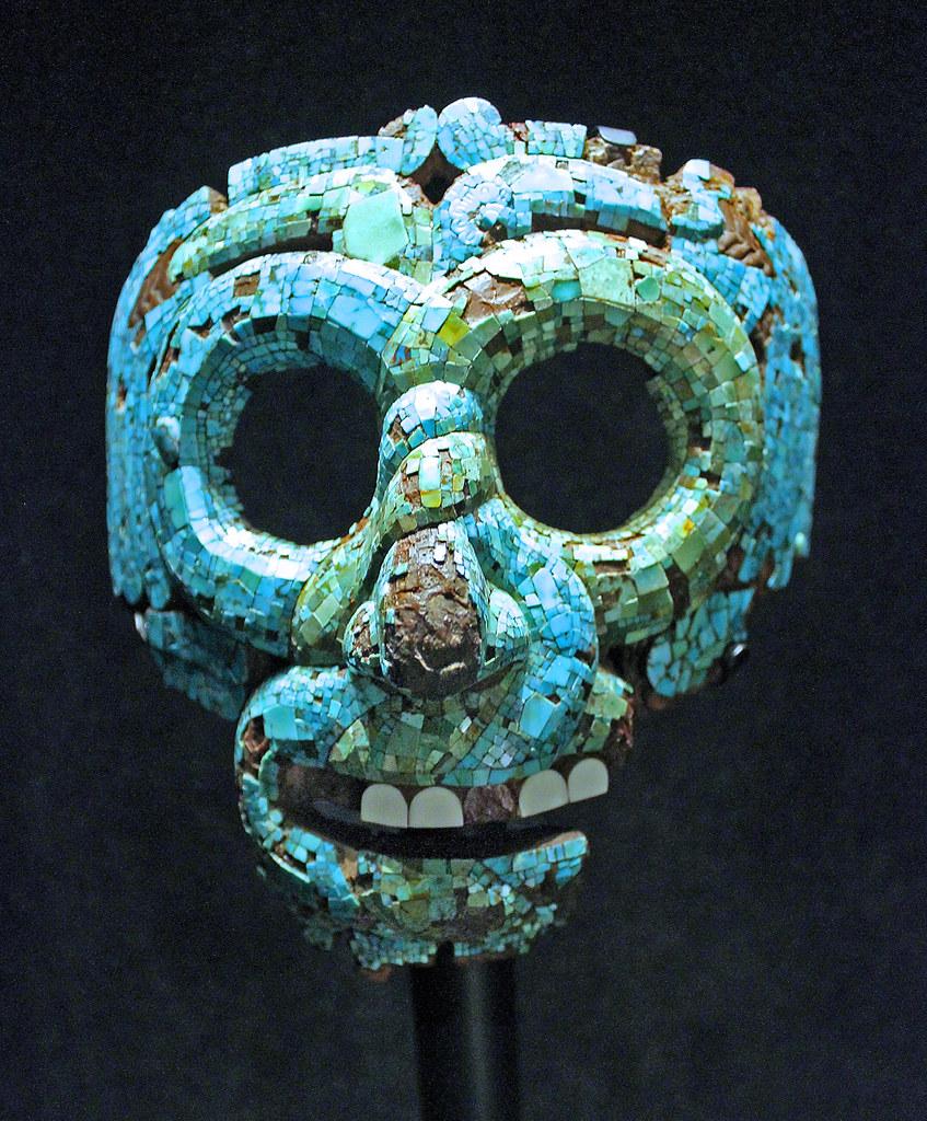 aztec mosaic mask of quetzalcoatl the mask represents