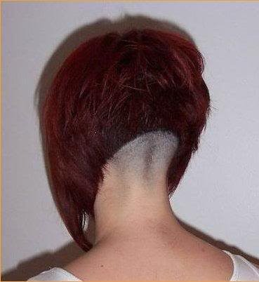 Red Short Bob With Shaved Nape Short Haircuts Women Flickr