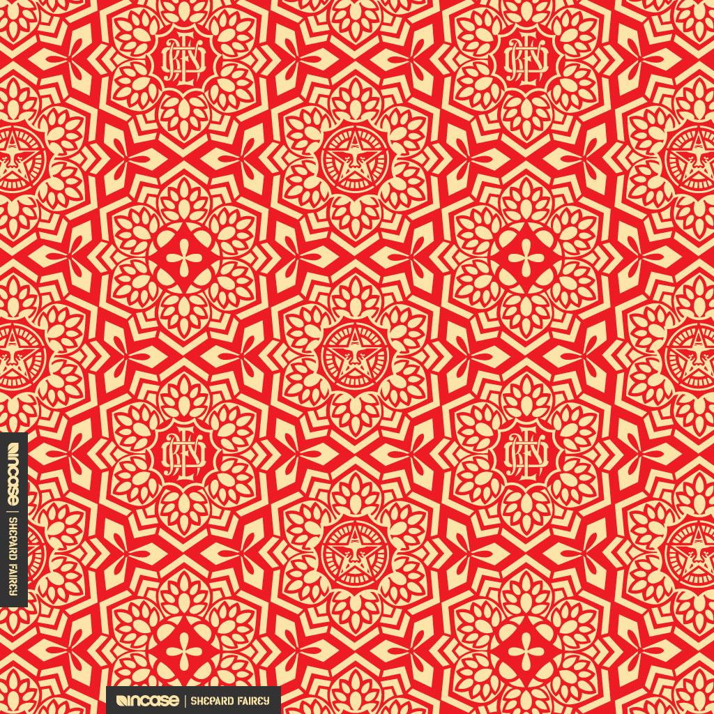 shepard fairey yen pattern red for ipad incase flickr