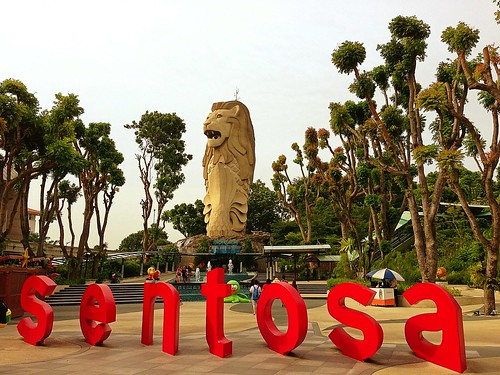 Merlion statue on Sentosa