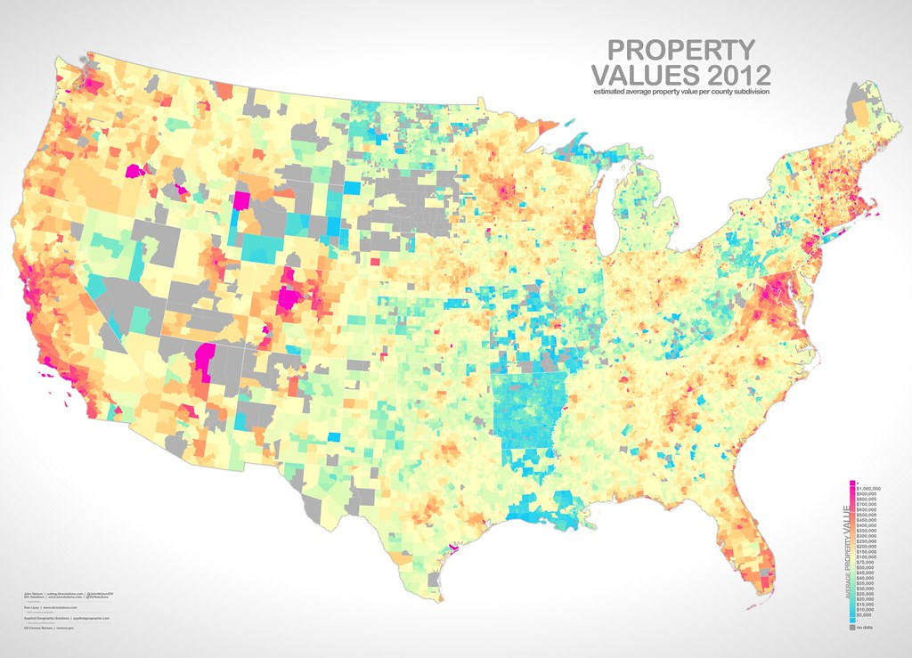 Property Value Map PropertyValue | One map in a collection, looking at income, … | Flickr Property Value Map