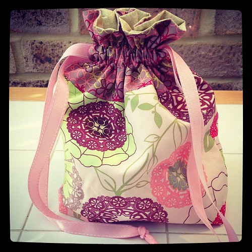 Another drawstring bag! | by SewHappyGeek