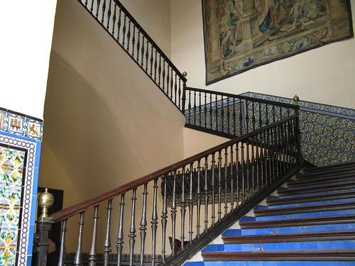 Staircase in cuarto del almirante real alcazar seville for Cuarto real alcazar sevilla