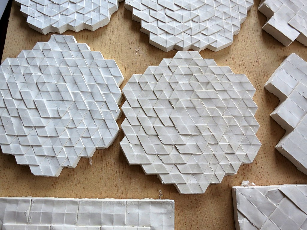 Tire Plaster Castings : Plaster casting of origami models we ve been making