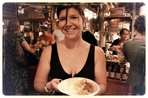 WBEZ Member Susan Chiara at Tank Noodle station at Chef Battle Royale 2012 | by Louisa Chu
