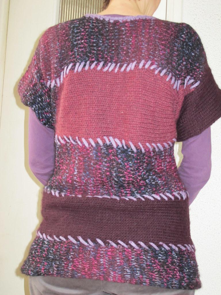 pull en bandes de tricotin g ant chaud et rustique pour ce flickr. Black Bedroom Furniture Sets. Home Design Ideas