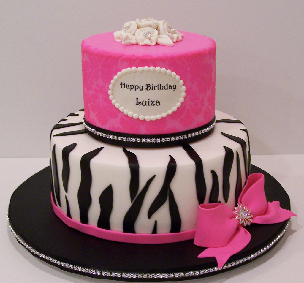 Cake With Zebra Design : Damask and zebra print cake 9