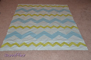 zigzagged quilt top completed | by Jenniffier