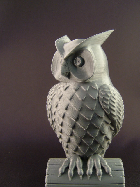 3dprinted owl front flickr photo sharing