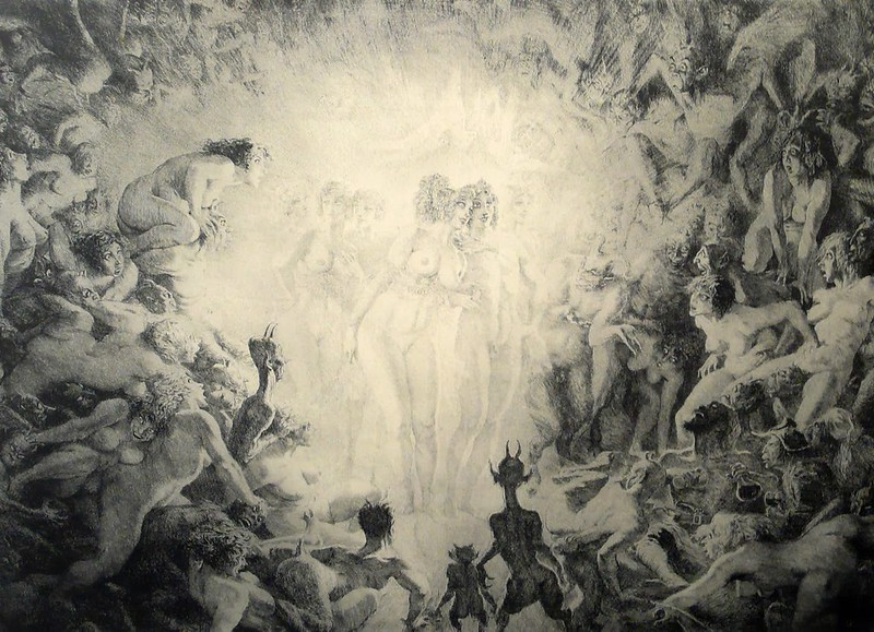 Norman Lindsay - Visitors to Hell