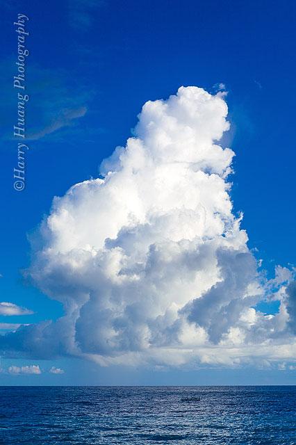 Harry_05487,積雲,積雨雲,白雲,太平洋,海洋