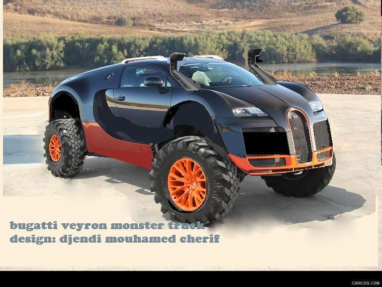 Bugatti Veyron Monster Truck Design By Djendi Mouhamed