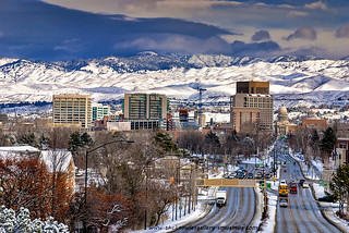City of Boise and School Bus winter | by The Knowles Gallery