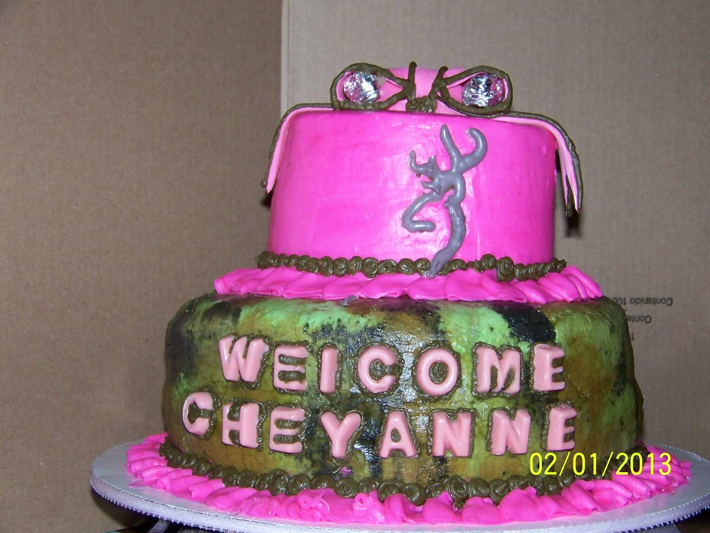 Pink And Camo Baby Shower Cake Jessica Flickr