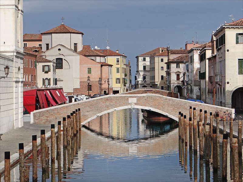 La canal de la Vena à Chioggia (Lagune de Venise)