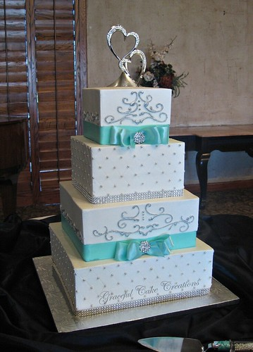 Tier Blue Wedding Cake
