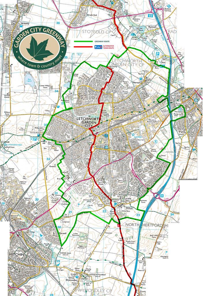 Garden City Greenway Map The Letchworth Garden City Greenw Flickr