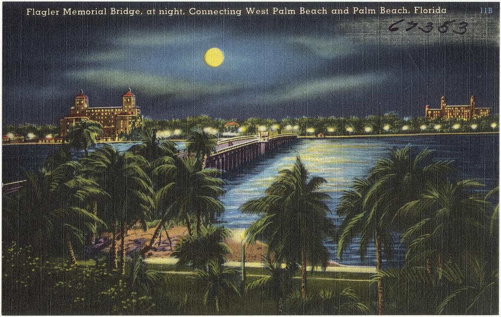 Flagler Memorial Bridge West Palm Beach Fl
