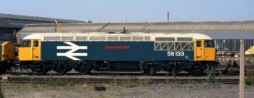 Class 56 56133 Crewe Locomotive Works Gateshead MPD