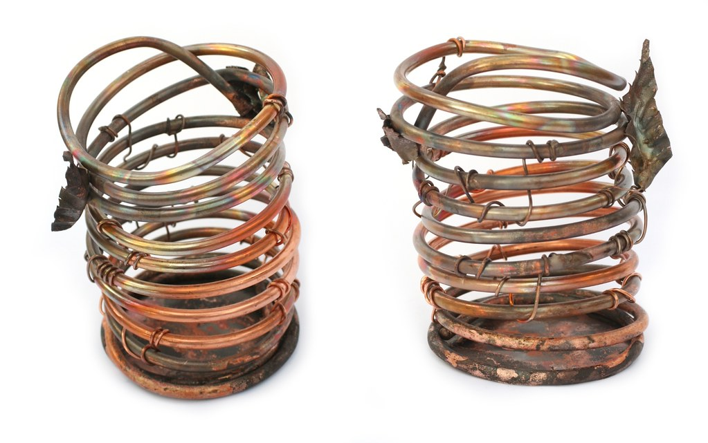 Copper Orchid Pots Handmade Virtualdistortion Flickr
