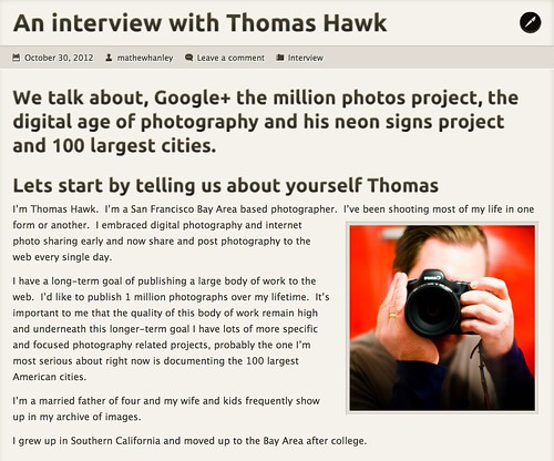 An Interview With Thomas Hawk | by Thomas Hawk