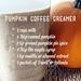Pumpkin coffee creamer recipe
